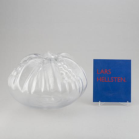"""Lars hellsten, tillskriven. skulptur, glas, """"pumpa""""."""