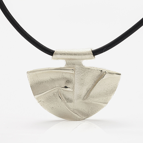 "BjÖrn weckstrÖm, a sterling silver and katsuk band necklace ""winter moon"". lapponia 2006."