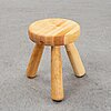 Ingvar hildingsson, a birch stool, signed ih.