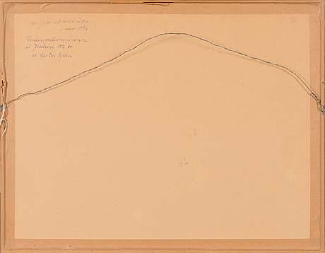 Alice kaira, drawing, signed and dated 1975.