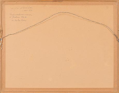 Alice kaira, teckning, signerad och daterad 1975.