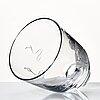 Vicke lindstrand, an engraved glass vase, orrefors, sweden 1935, model 1446.