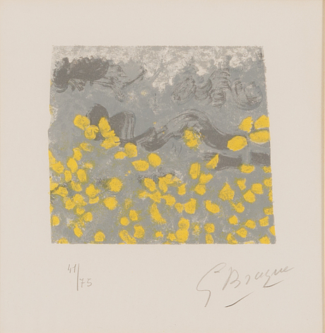 Georges braque, colour lithograph, signed and numbered 41/75.