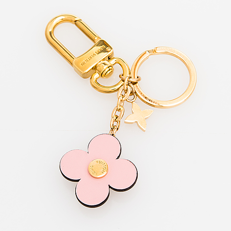 Louis vuitton, a 'blooming flowers bb' bag charm and key holder.