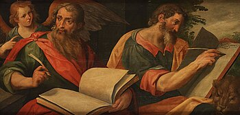 487. Abraham Blomaert Hans art, Evangelisterna Markus & Matteus.