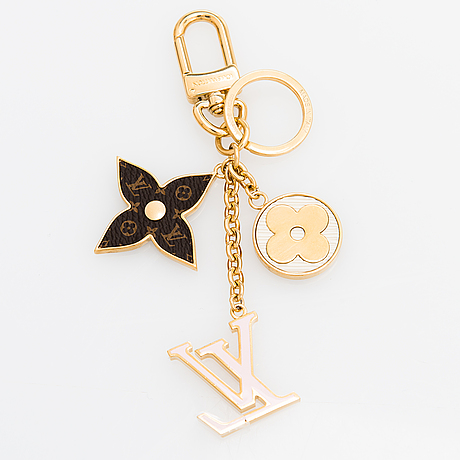 Louis vuitton, as'pring street' bag charm and key holder.