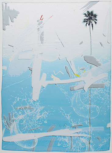 Petra cortright, digital print on silk, executed in 2014.