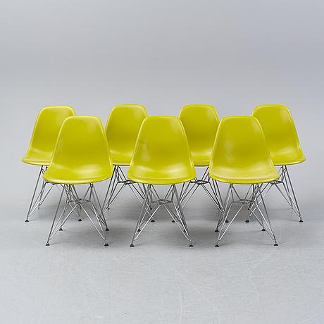 Charles & ray eames, seven 'dsr' chairs, vitra, 2011.