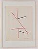 Richard mortensen,  silkscreen in colours, 1966, signed 23/75 xxv.