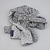 Louis vuitton, a 'envy lv bandeau' silk scarf with a buckle.