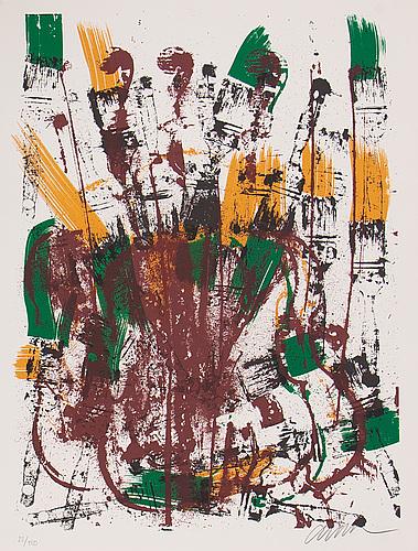 Fernandez arman, silkscreen in colours, 1992, signed 22/150.
