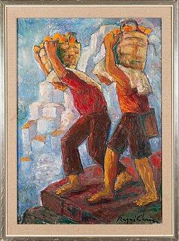RAGNI CAWÉN, oil on canvas, signed.