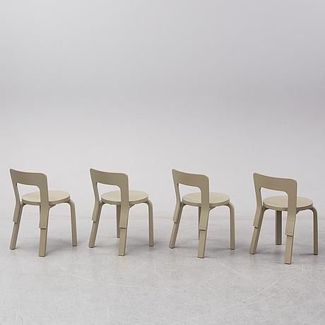 Alvar aalto/ note design studio, a set of four childen's chairs, artek, finland  2017.