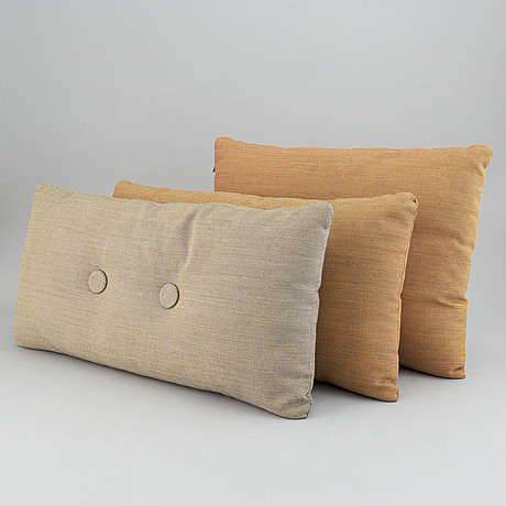 A set of three pillows *steel cut trio'.