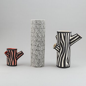 A set of three ceramic vases by Hay.