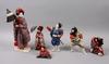 Parti japonica, ca 100 delar, modeller och dockor, japan 1900-talets första hälft/mitt.