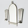 Paavo tynell, a 1930's mirror and a pair of wall sconces '7019' for taito finland.