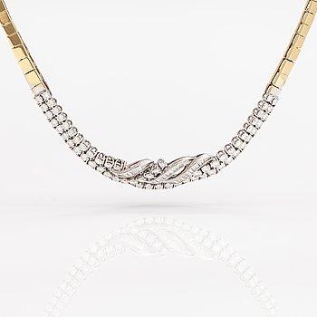 Halsband, 18K guld, diamanter ca 6.00 ct.