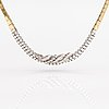 An 18k gold necklace with diamonds ca. 6.00 ct in total.