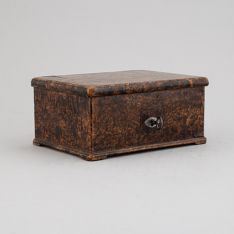 Jacob siölin, an alder root box, köping and kungsör, signed and numbered no 245.