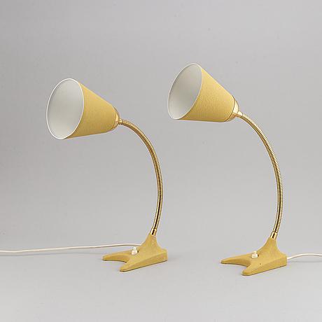 A pair of ewÅ, värnamo table lights, mid 20th century.