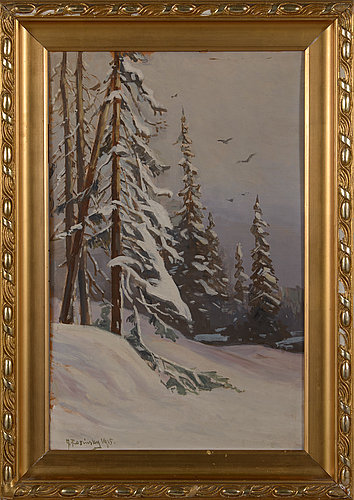 G. rosinsky, oil on panel, signed and dated 1915.