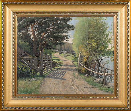 Albert lindfors, oil on canvas, signed and dated 1889.