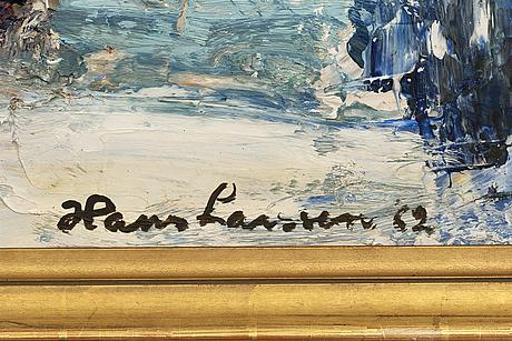 Hans larsson, olja på duk signerad och daterad 62.