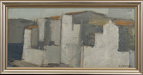 Gustav rudberg, oil on panel signed.