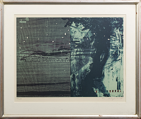 Ola billgren, serigraph signed dated and numbered 83 44/100.