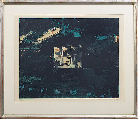 Ola billgren, serigraph signed dated and numbered 83 43/100.