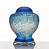 Ferdinand boberg, an art nouveau cameo glass table lamp, reijmyre 1915, no 380, the base by c.g. hallberg, stockholm 1917.
