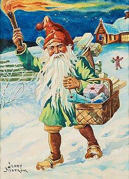 501. Jenny Nyström, Christmas scene.
