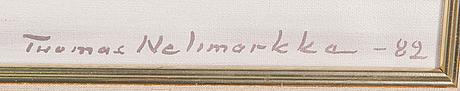 Tuomas nelimarkka, öljy kankaalle, signeerattu ja päivätty -82.