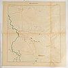 Fyra volymer samt mapp med kartverk, generalstaben, karl xii på slagfältet, karolinsk slagledning.