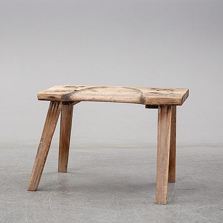 A 19th century farm stool.