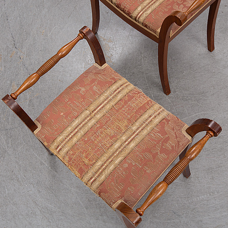 A mid 19th century pair of stools.