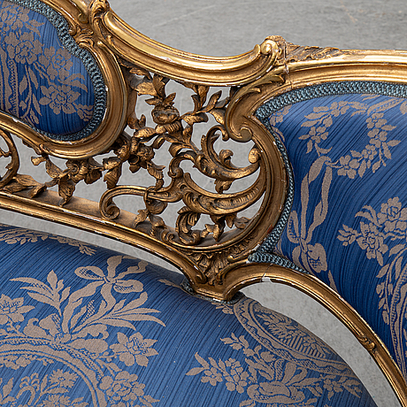 A frennch 19th century louis xv style sofa.