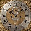 An english longcase clock, signed tho shindler, canterbury. ca 1800.