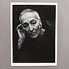 """Hans hammarskiöld, silvergelatinfotografi, """"meret oppenheim"""" signerad och daterad 1982/1990-tal a tergo."""