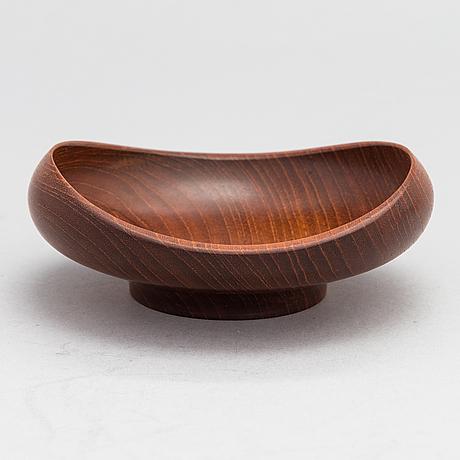 A finn juhl teak bowl, kay bojesen, denmark.
