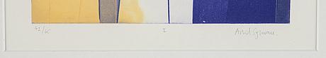 Astrid sylwan, färgetsning, signerad 42/65.