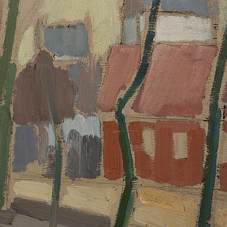 Hans billgren, oil on panel signed and dated 1939.