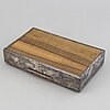 A silver cigar box, swedish import mark.