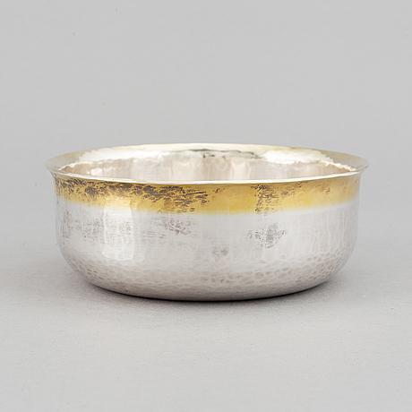 Bengt liljedahl, a sterling silver bowl, stockholm 2009.