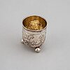 A parcel-gilt silver beaker, moscow 18th century.