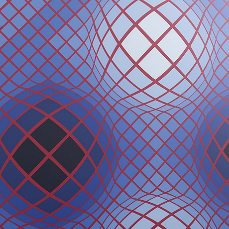 Victor vasarely, serigraph in colours singed and numbered 210/250.