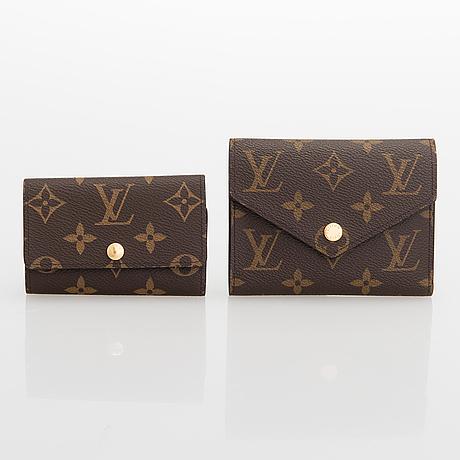 Louis vuitton, a monogram 'victorine' wallet and monogram '6 key holder'.