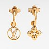 "Louis vuitton, a pair of ""blooming"" earrings. marked lv."