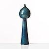 Stig lindberg, a stoneware vase / sculpture, gustavsberg studio, sweden 1950's.